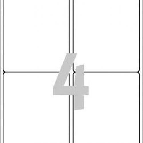 Белые глянцевые этикетки из бумаги, 99.1 x 139, L7769-40