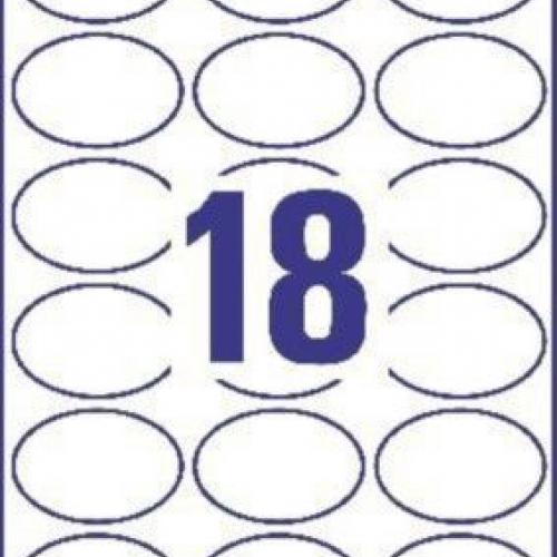 Белые овальные этикетки для привлечения внимания из пластика, 63.5 x 42.3, C6079-10