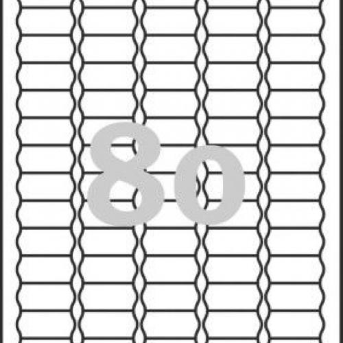 Белые бумажные удаляемые этикетки-ценники, 35.6 x 16.9, L3412REV-25