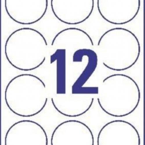 Белые бумажные круглые этикетки для привлечения внимания, ? 60, L3416-100