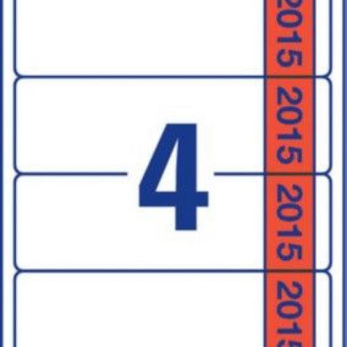 Белые этикетки для папок на 2015 год из бумаги , 61 x 192, L4761J15-20