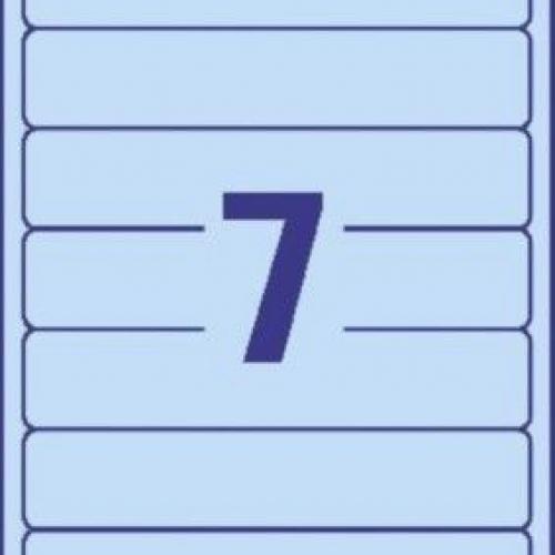 Синие короткие непрозрачные этикетки из бумаги для папок, 192 x 38, L4763-20