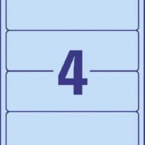 Синие непрозрачные этикетки из бумаги для папок, 192 x 61, L4767-100