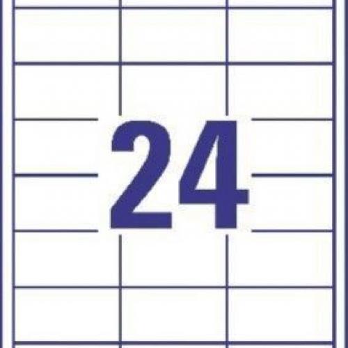 Белые непрозрачные этикетки BlockOut™ из бумаги, 64.6 x 33.8, 6091