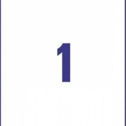 Белые непросвечивающиеся этикетки BlockOut™ из бумаги, 210 x 297, 6094