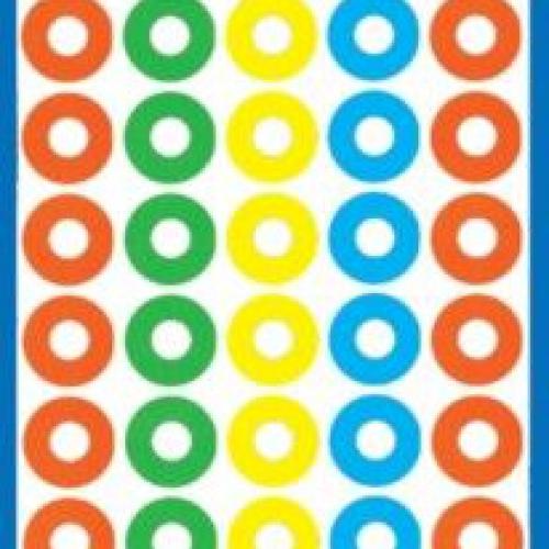 Цветные укрепляющие кольца из бумаги, ? 13, 3055