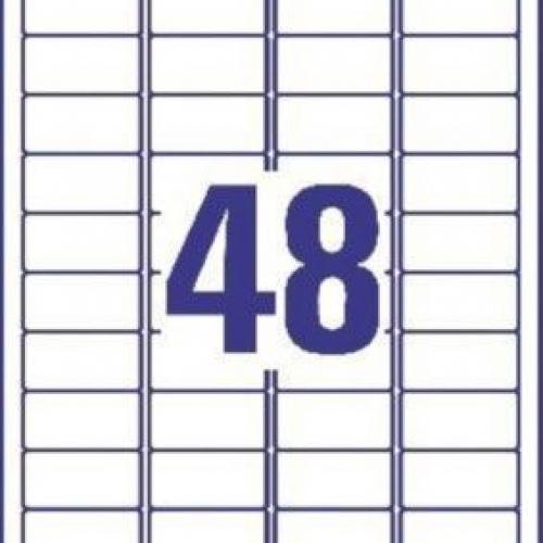 Белые бумажные мини-этикетки, 45.7 x 21.2, L7636-25