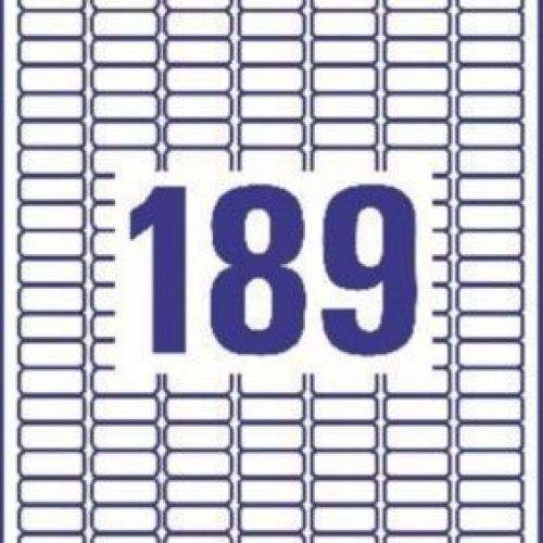 Белые бумажные мини-этикетки, 46 x 11.1, L7656-25