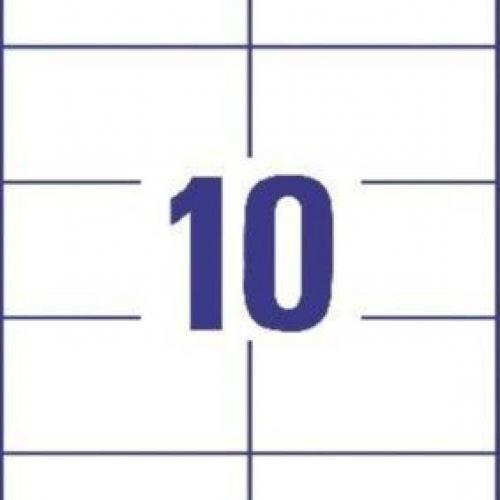 Белые универсальные этикетки из бумаги, 105 x 57, 3425
