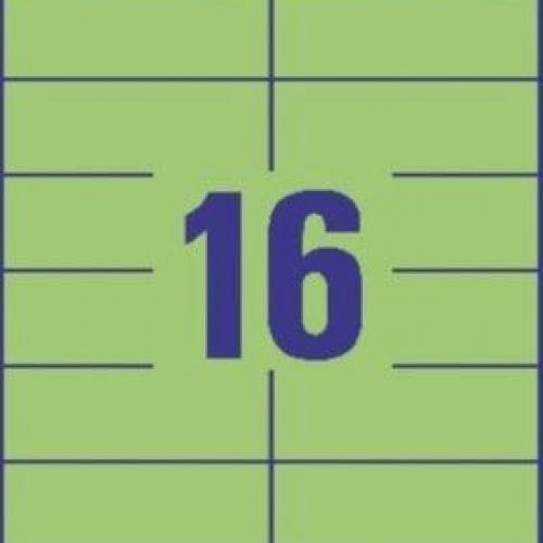 Универсальные зелёные этикетки из бумаги, 105 x 37, 3454