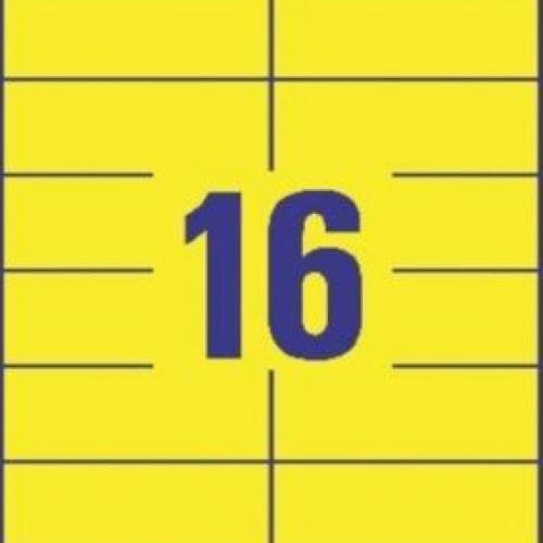 Универсальные жёлтые этикетки из бумаги, 105 x 37, 3455