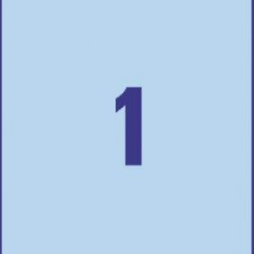 Универсальные синие этикетки из бумаги, 210 x 297, 3471