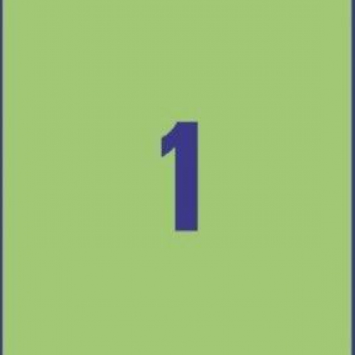 Унивесальные зелёные этикетки из бумаги, 210 x 297, 3472