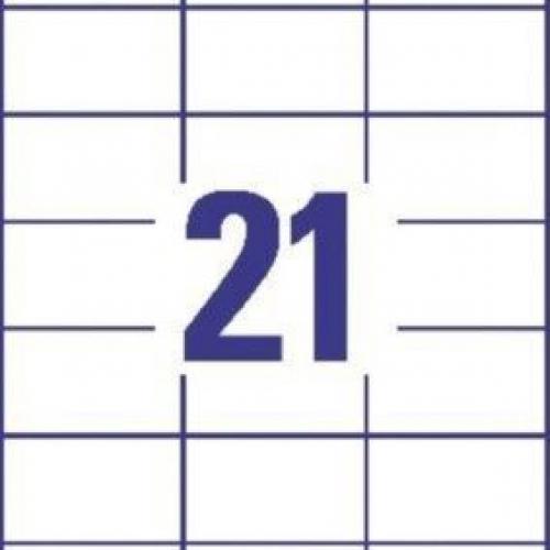 Белые универсальные этикетки из бумаги, 70 x 41, 3481
