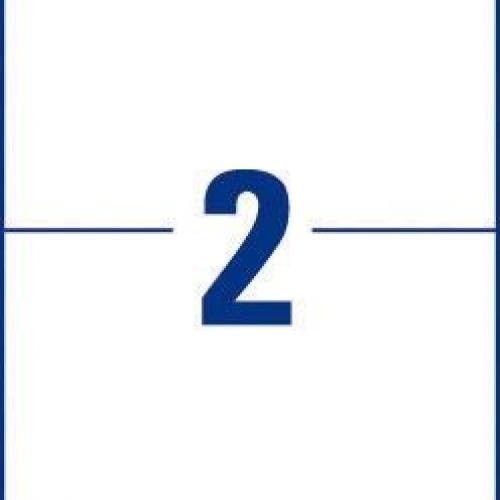 Белые универсальные этикетки из бумаги, 210 x 148, 3655