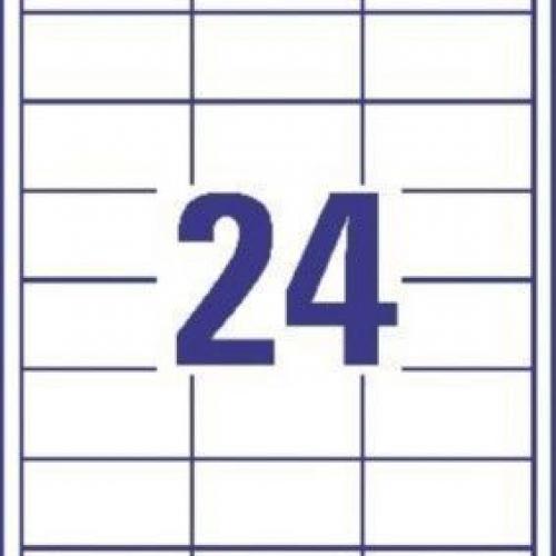 Белые универсальные этикетки из бумаги, 64.6 x 33.8, 3658