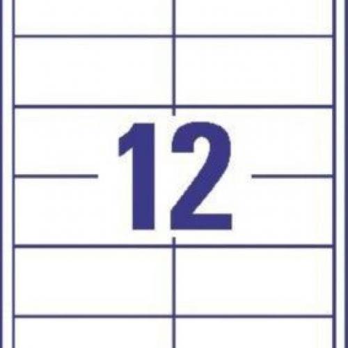 Белые универсальные этикетки из бумаги, 97 x 42.3, 3659