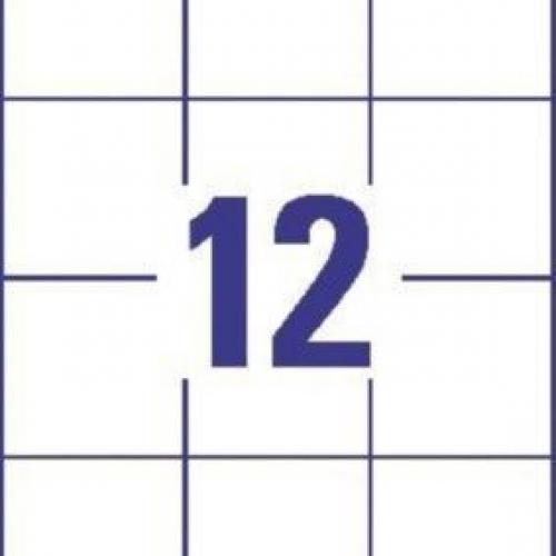 Белые универсальные этикетки из бумаги, 70 x 67.7, 3661