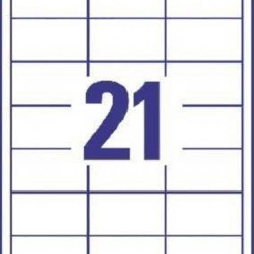 Белые универсальные этикетки из бумаги, 64 x 36, 3670