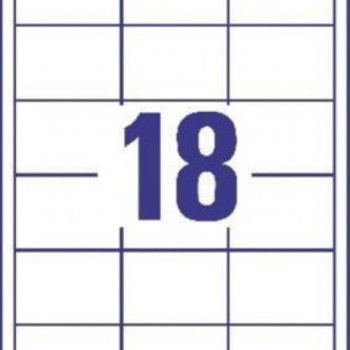 Белые универсальные этикетки из бумаги, 64 x 45, 3671