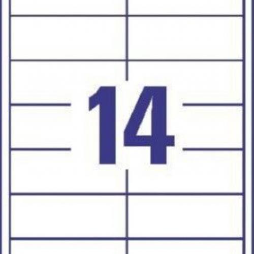 Белые универсальные этикетки из бумаги, 97 x 37, 3678