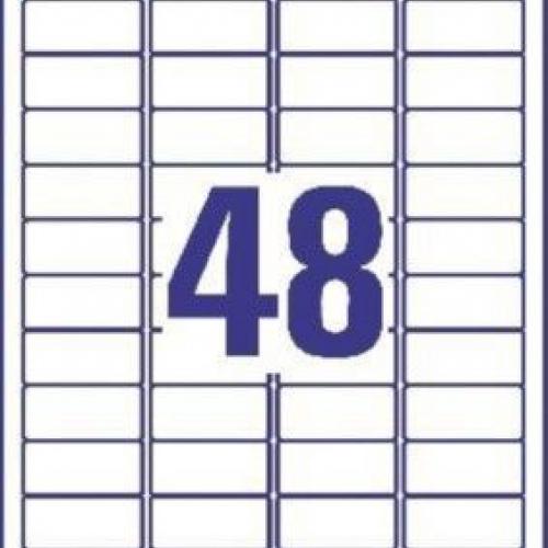 Универсальные белые удаляемые этикетки из бумаги, 45,7 x 21,2, L4736REV-10