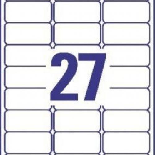Универсальные белые удаляемые этикетки из бумаги, 63,5 x 29,6, L4737REV-10