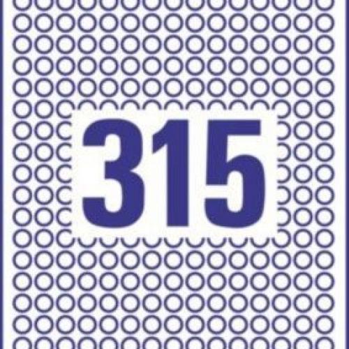 Белые круглые удаляемые этикетки из бумаги, ? 10, L6019REV-25