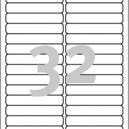 Удаляемые белые этикетки из бумаги, 96 x 16.9, L6031REV-25