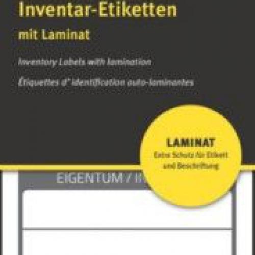 Чёрные ламинированные инвентарные этикетки из полиэстера, 60 x 30, 6903