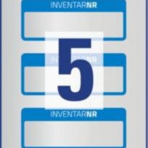 Синие инвентарные этикетки из полиэстера с 1 полем для текста, 50 x 20, 6906