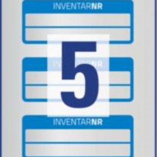 Синие инвентарные этикетки из полиэстера с 2 полями для текста, 50 x 20, 6910
