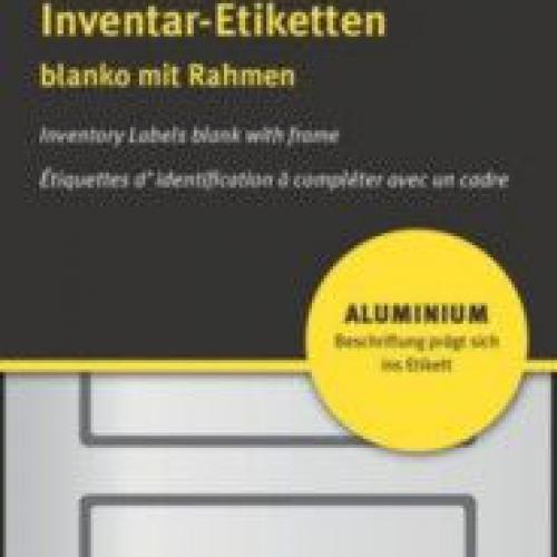 Чёрные чистые инвентарные этикетки из алюминия, 50 x 20, 6922