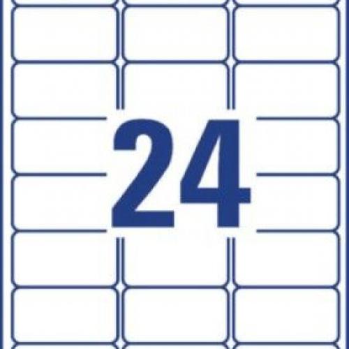Белые всепогодные удаляемые этикетки из полиэстера, 63,5 x 33,9, L4773REV-20