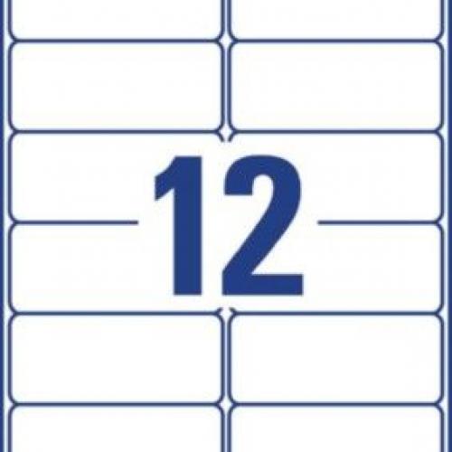 Белые всепогодные удаляемые этикетки из полиэстера, 99,1 x 42,3, L4776REV-20