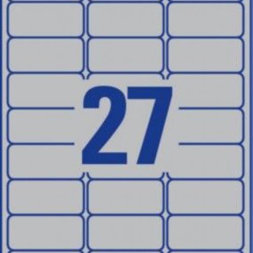 Металлизированные этикетки из полиэстера, 63,5 x 29,6, L6011-100