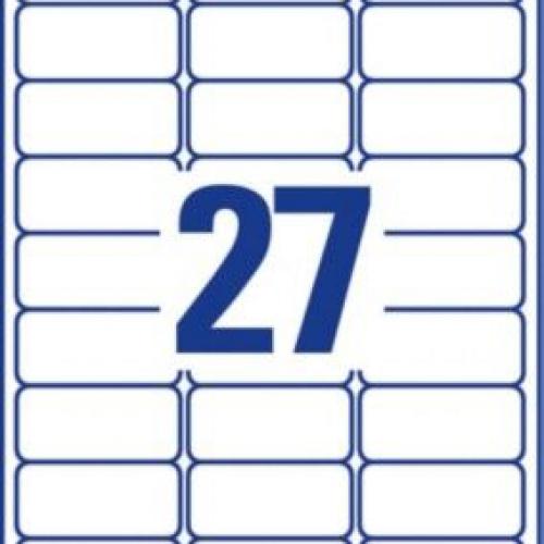 Белые этикетки со сверхсильным клеем из бумаги, 63,5 x 29,6, L7874-20
