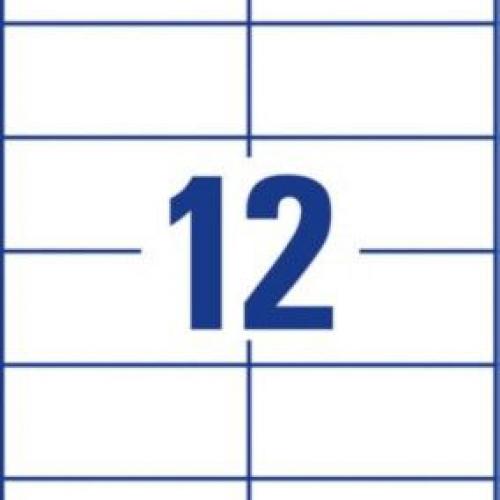 Белые этикетки со сверхсильным клеем из бумаги, 105 x 48, L7875-20