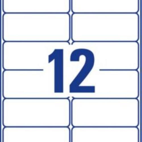 Белые суперпрочные пленочные этикетки из полиэтилена, 99,1 x 42,3, L7913-10