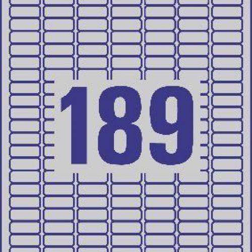Серебристые этикетки из полиэстера, 25.4 x 10, L6008-20