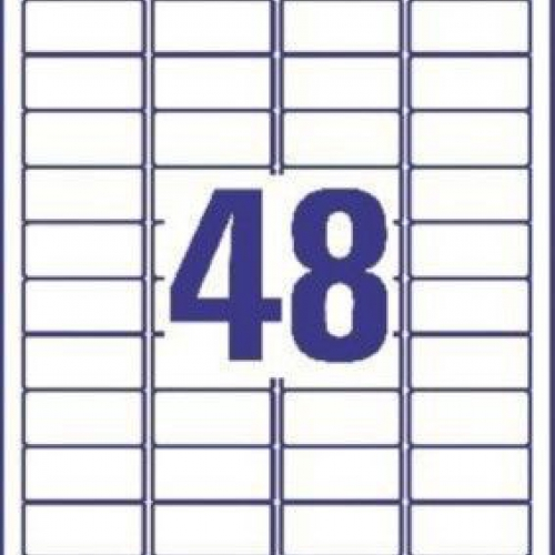 Белые этикетки-пломбы из полиэстера, 45.7 x 21.2, L6113-20