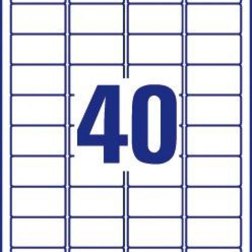 """Белые этикетки """"Тройная стойкость"""" TripleBond™ из полиэстера, 45.7 x 25.4, L6140-20"""