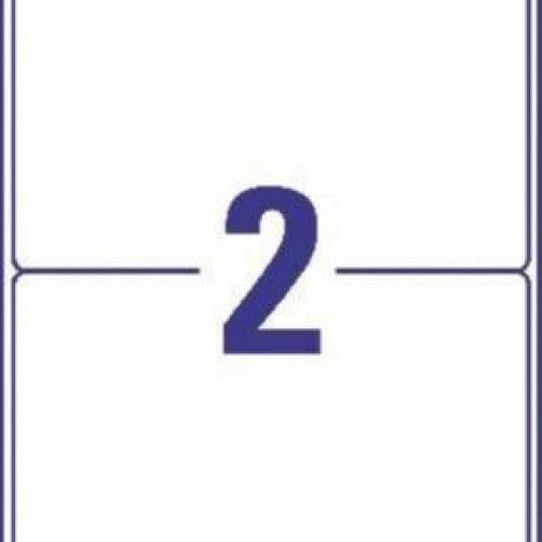 Белые матовые влагостойкие этикетки из полиэстера, 199.6 x 143.5, L7996-25