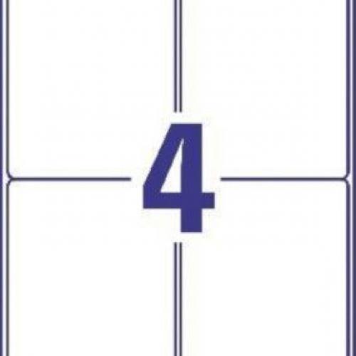 Белые матовые влагостойкие этикетки из полиэстера, 99.1 x 139, L7994-25