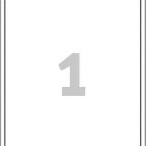 Белые адресные этикетки из бумаги, 199.6 x 289.1, J8167-25