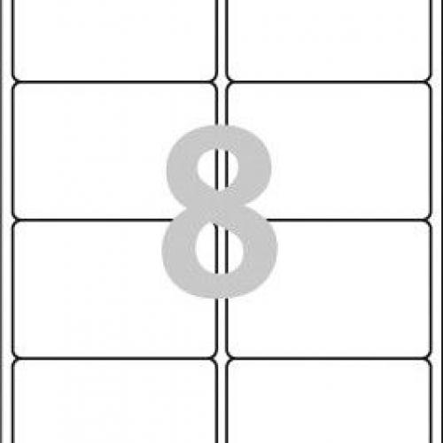 Белые эко-этикетки QuickPEEL из бумаги, 99.1 x 67.7, LR7165-100