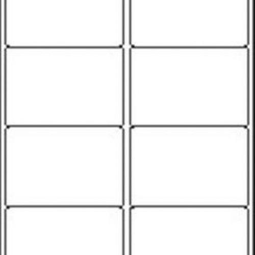 Белые непросвечивающиеся этикетки BlockOut из бумаги, 99.1 x 67.7, L7165-250