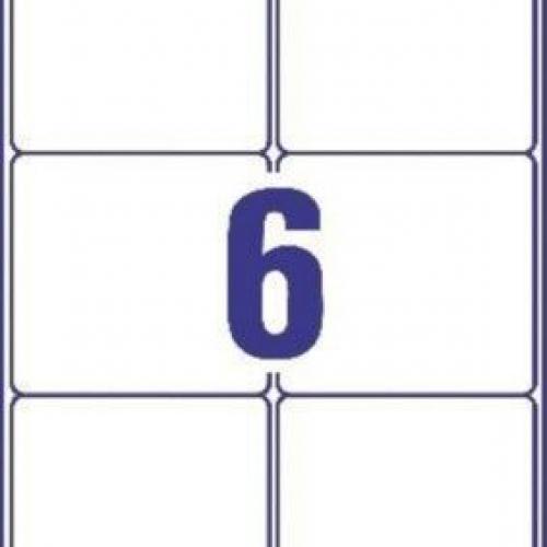 Белые непросвечивающиеся этикетки BlockOut из бумаги, 99.1 x 93.1, L7166-100
