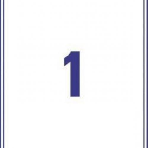 Белые непросвечивающиеся этикетки BlockOut из бумаги, 199.6 x 289.1, L7167-100