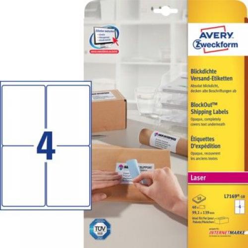 Белые адресные этикетки из бумаги, 99,1 x 139, L7169-10